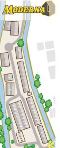 Map of Moderna units